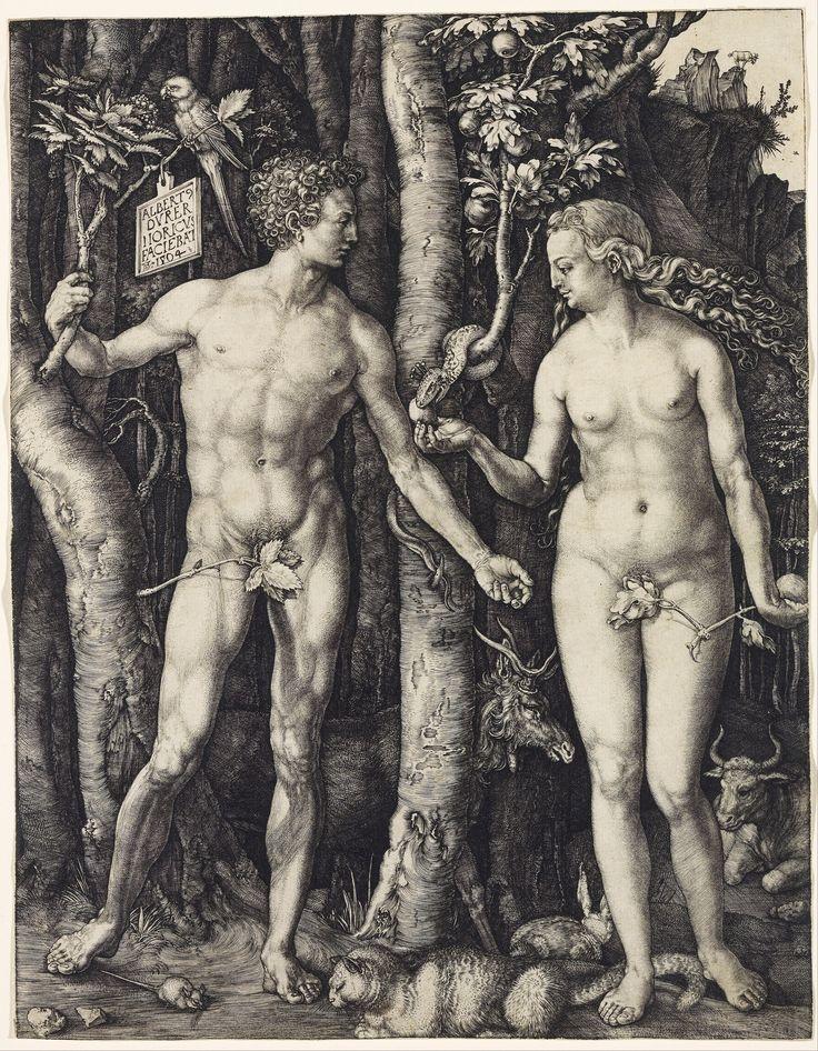 """""""Adam and Eve,"""" by Albrecht Dürer, 1504"""