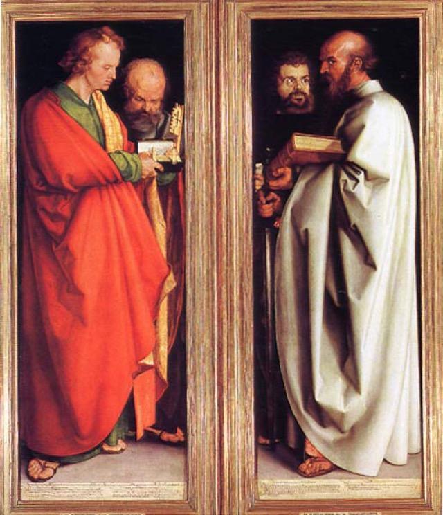 """""""The Four Apostles,"""" by Albrecht Dürer, 14"""