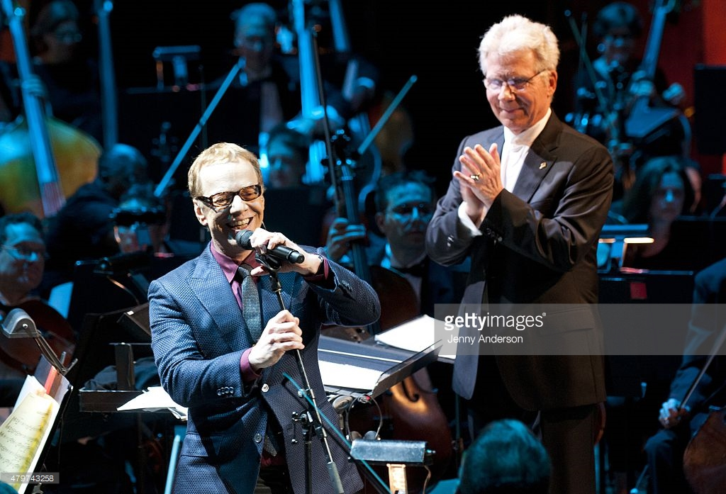 Danny Elfman and conductor Mauceri