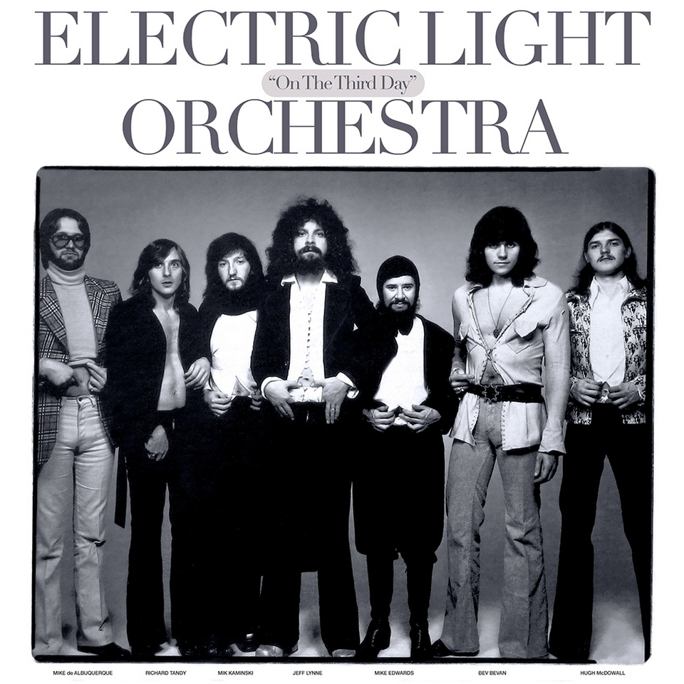 "Cover photo for Electric Light Orchestra's ""On The Third Day"" album, by Richard Avedon, 1973"