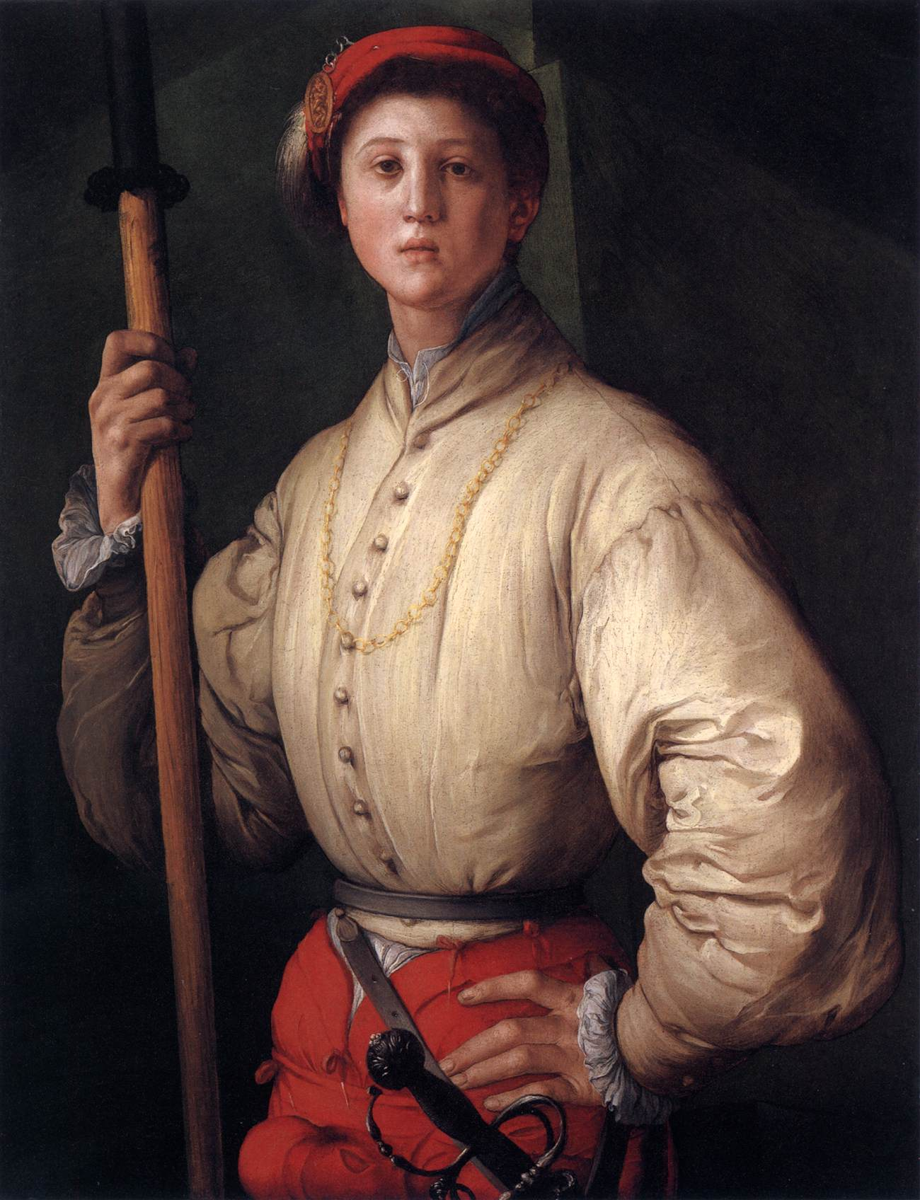 """Portrait Of A Halberdier,"" by Jacopo Pontormo, 15"