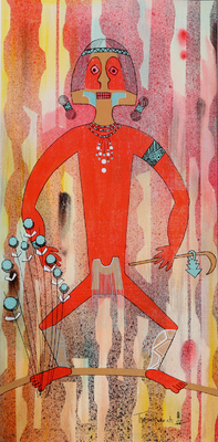 """Red Man In Journey,"" 1971 by Helen Hardin"