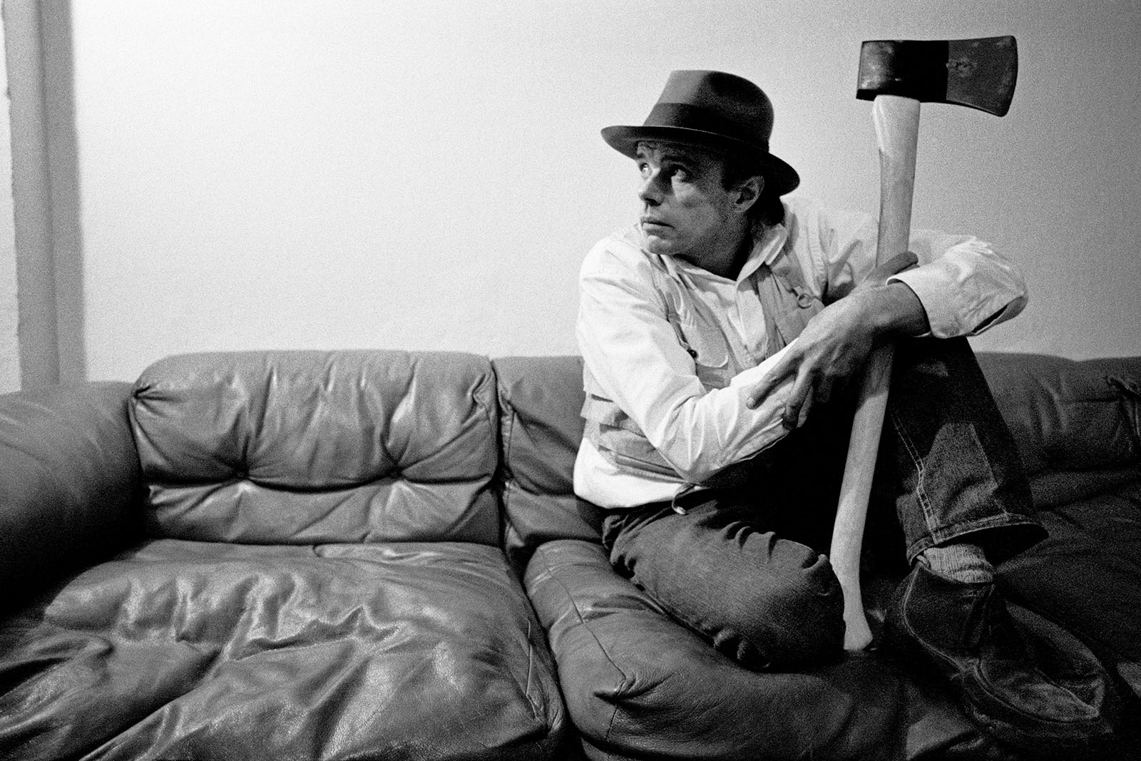 Portrait of Joseph Beuys, by Robert Lebeck, c. 1978