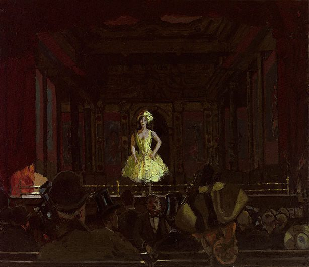 """Katie Lawrence at Gatti's,"" by Walter Sickert,"