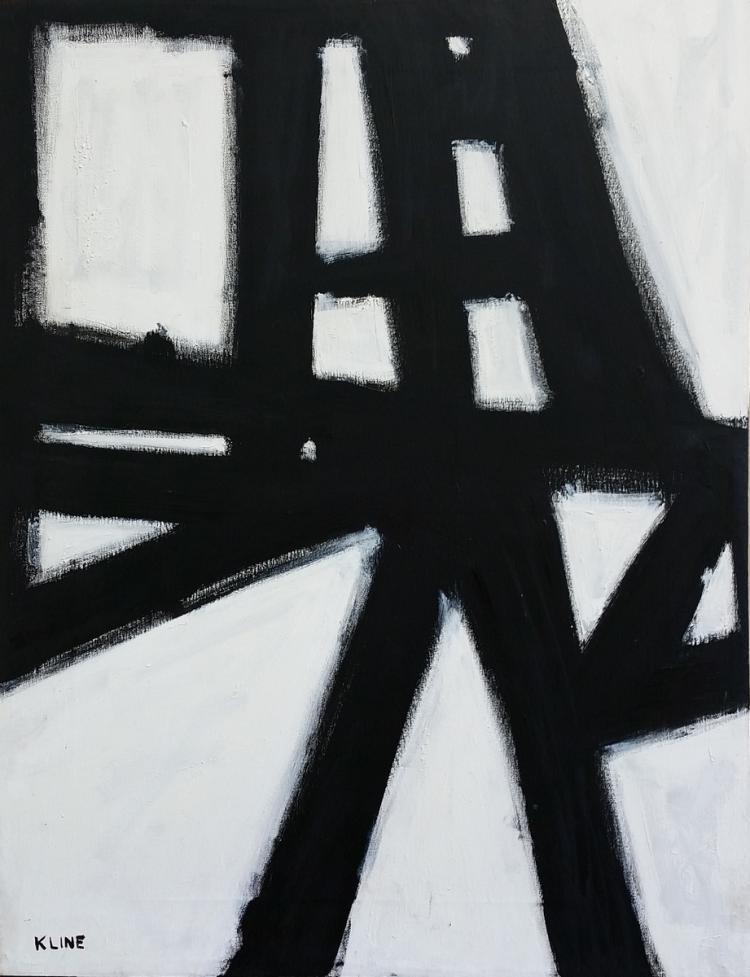 """Untitled,"" by Franz Kline, c.1950's"