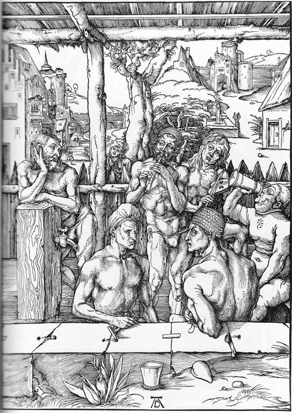 """""""The Men's Bath House,"""" by Albrecht Dürer, 149"""