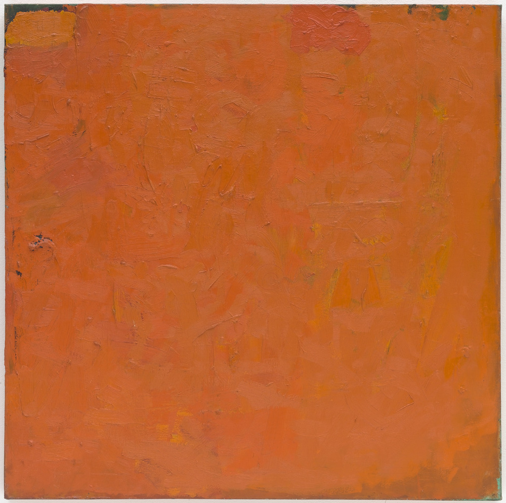 """Orange Painting,"" 1955 by Robert Ryman"