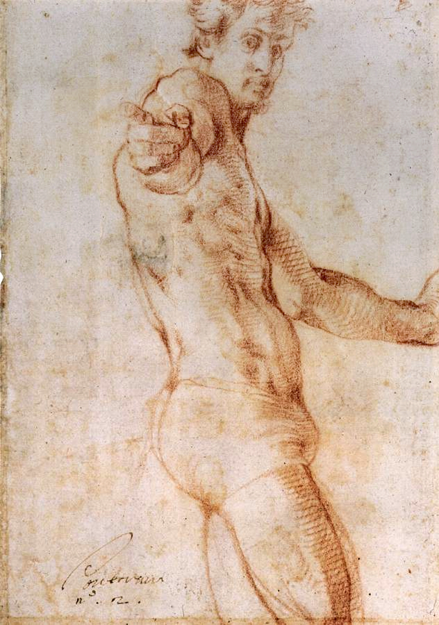 Self portrait by Jacopo Pontormo, 1525