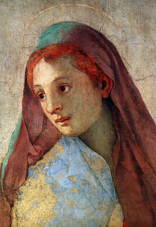 "Detail from ""The Annunciation,"" by Jacopo Pontormo, 1525-1528"