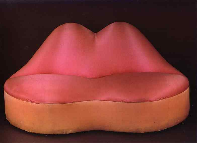 """Mae West Lips Couch,"" by Salvador Dalí"