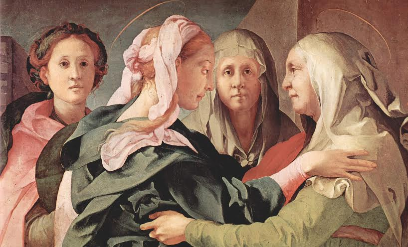 """The Visitation of the Virgin and St. Elizabeth,"" by Pontormo,"