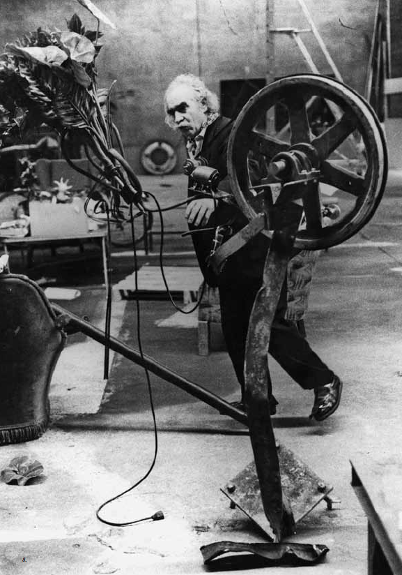Jean Tinguely in his studio, 1981
