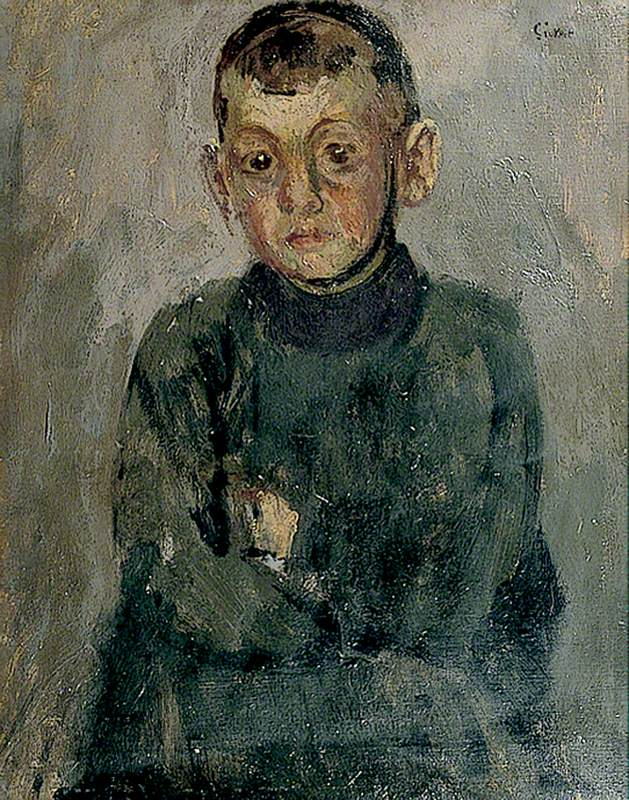 """One Of Madame Villain's Son's,"" by Walter Sickert - the boy may have been Sickert's son as well"