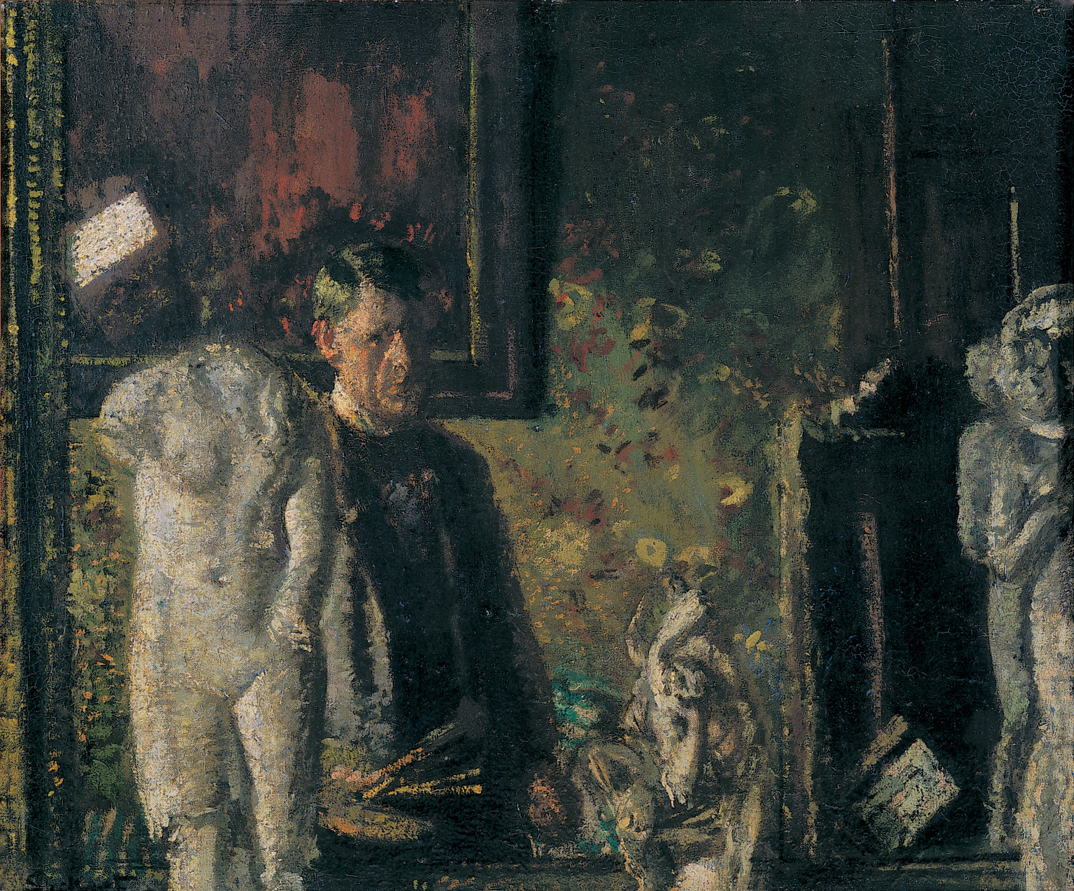 """Self Portrait In Studio,"" by Walter Sickert, 1907"