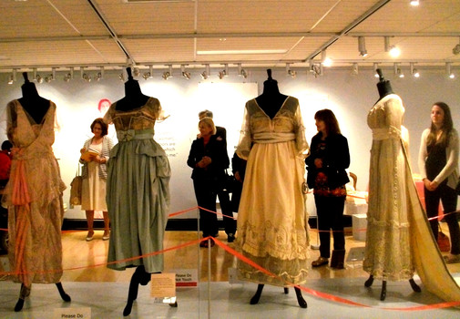 The styles of Downton Abbey-era designer Lucile (Lady Duff Gordon) are on view at the Guelph Civic Museum through November 13, 2016. (photo: Guelph Civic Museum)