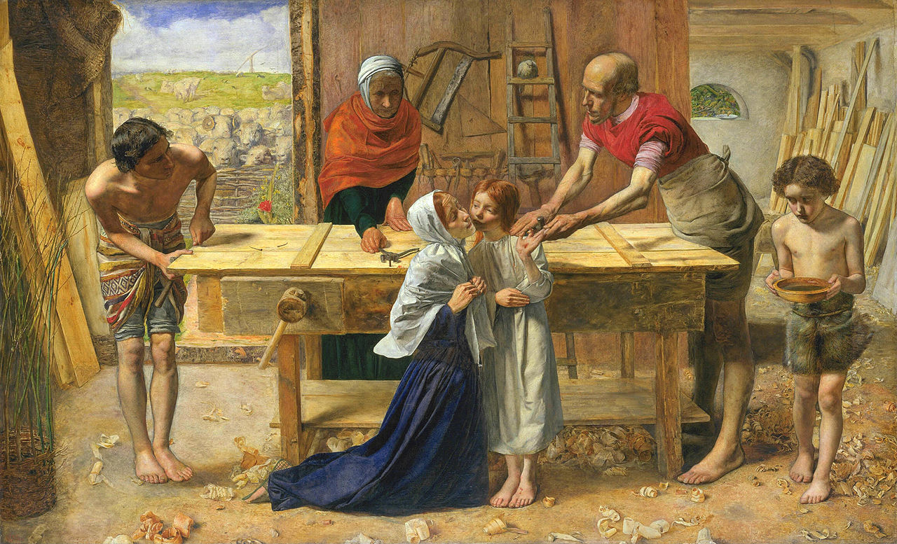 1280px-John_Everett_Millais_-_Christ_in_the_House_of_His_Parents_(`The_Carpenter's_Shop')_-_Google_Art_Project