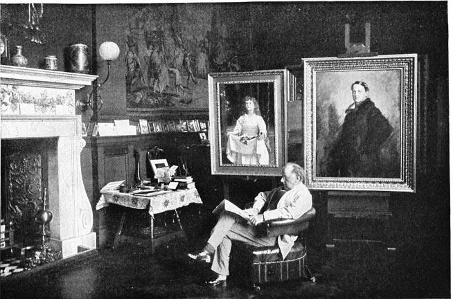 Millais, in his studio