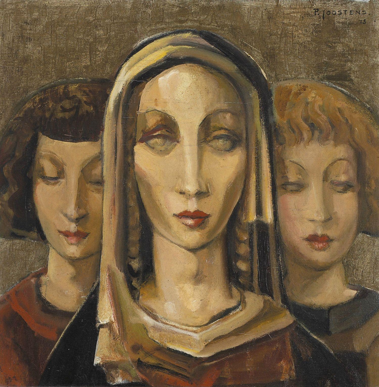 """Drie Vrouwen,"" 1938 by Paul Joostens"