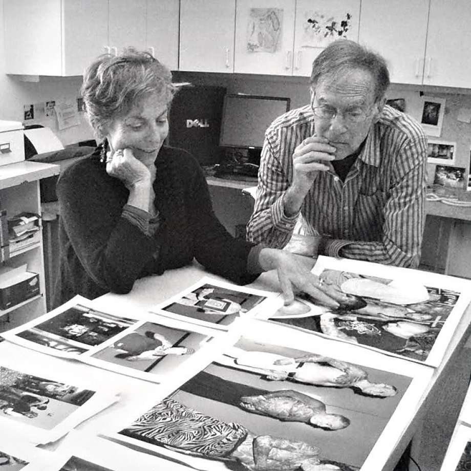 Kenneth Graves with his wife Eva Lipman, in 2009