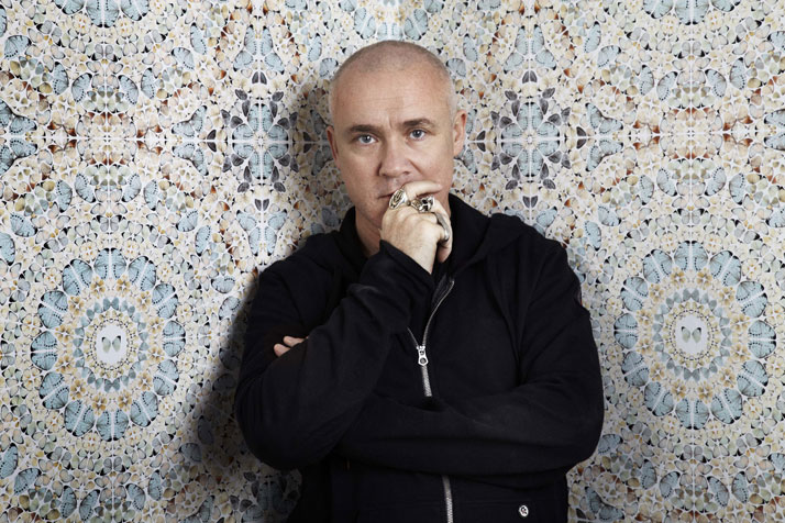 Damien Hirst, at the Tate Modern, 2012 - photo by Billie Scheepers