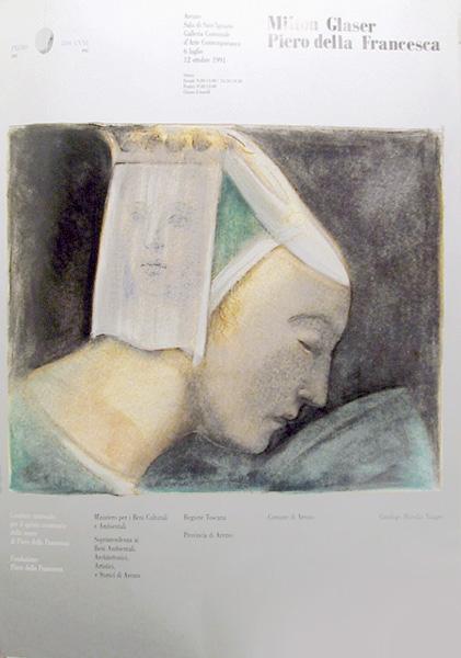 """Poster for Glaser's """"Piero Della Francesca"""" exhbition"""