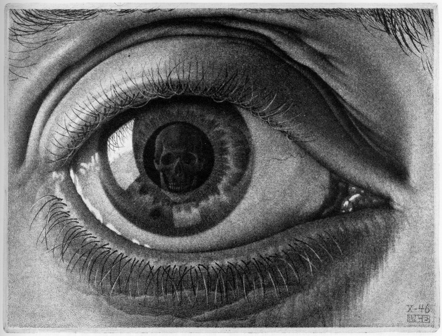 """The Eye Of Death,"" by M.C. Escher, 1964"