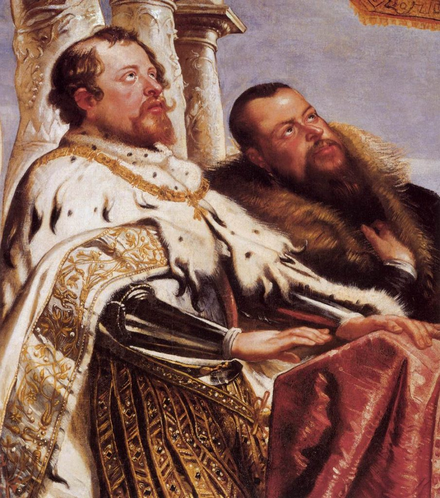 "Detail from ""The Gonzaga Family Worshipping The Holy Trinity,"" c. 1604"