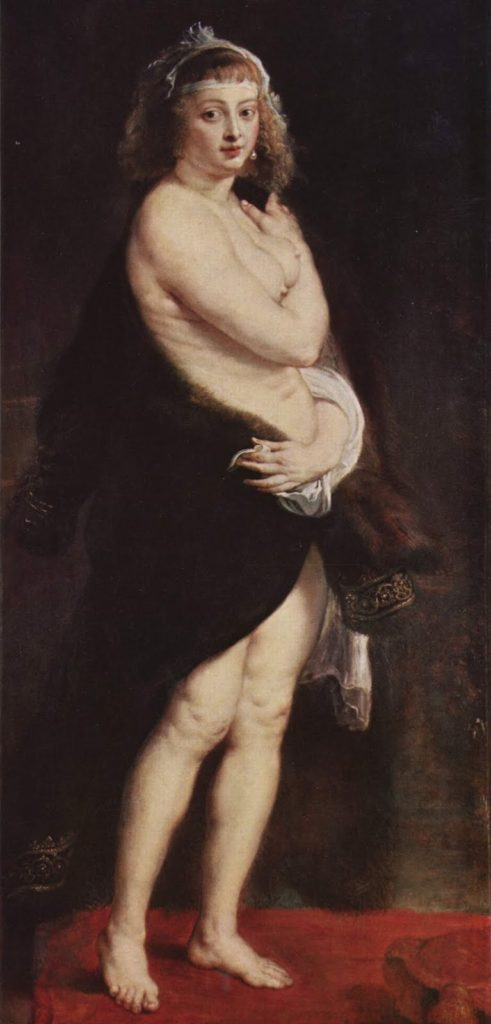 Hélène Fourment in a Fur Wrap - rubens