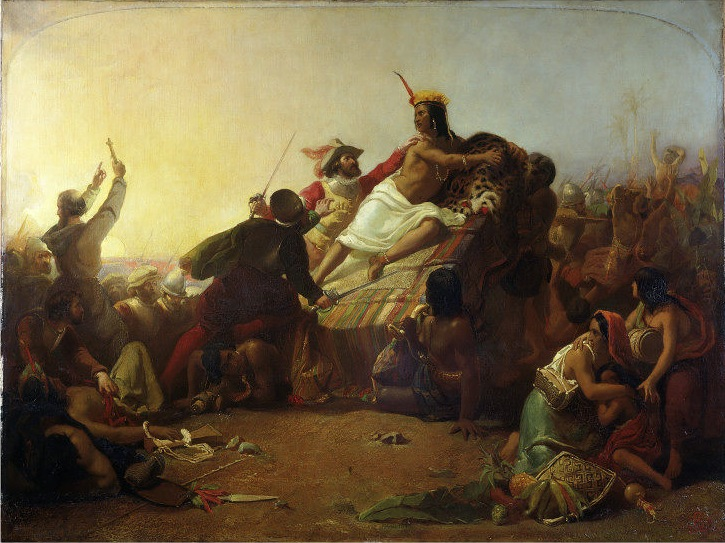 """Pizarro Seizing the Inca of Peru,"" by John Everett Millais, 1846"