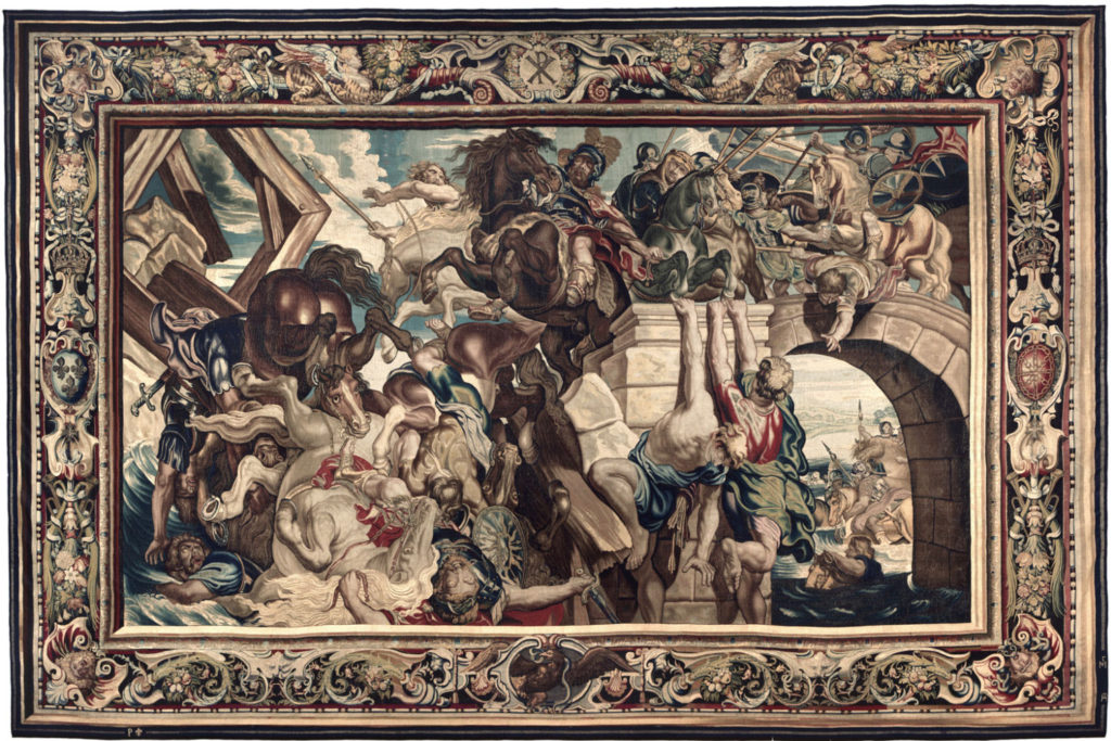 "Tapestry likely commissioned by Louis XIII, ""Triumph of Constantine over Maxentius at the Battle of the Milvian Bridge,"" c."