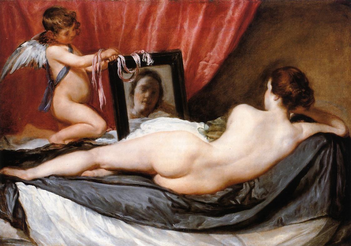 """""""Venus At Her Mirror (aka Rokeby Venus),"""" by Diego Velázquez, 1649-51"""