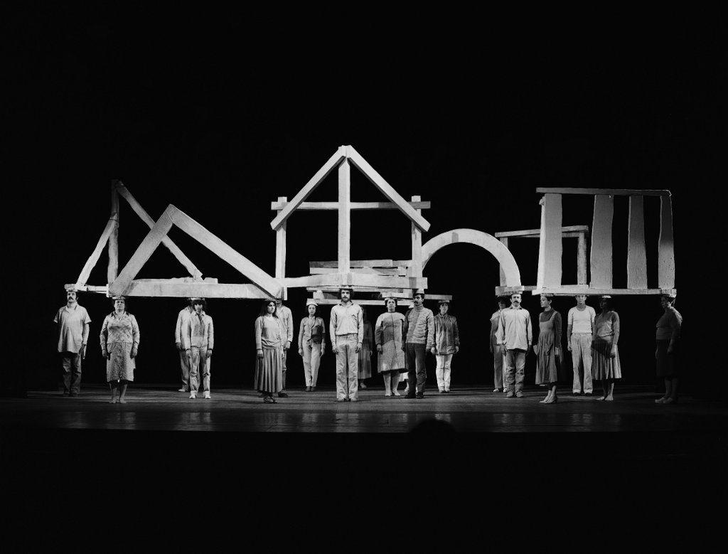 """""""Anno Uno,"""" Teatro Quirino, Roma, 1981 -photo: Paolo Mussat Sartor."""