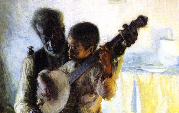 "Detail from ""The Banjo Lesson"""