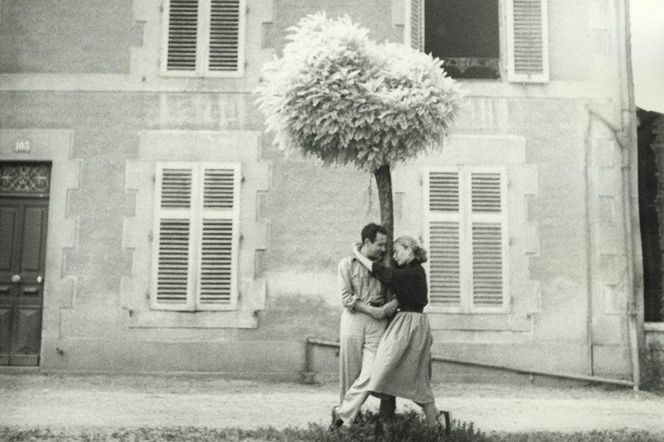 Lillian Bassman and Paul Himmel, photographed by Richard Avedon, with whom they were vacation with in Europe.