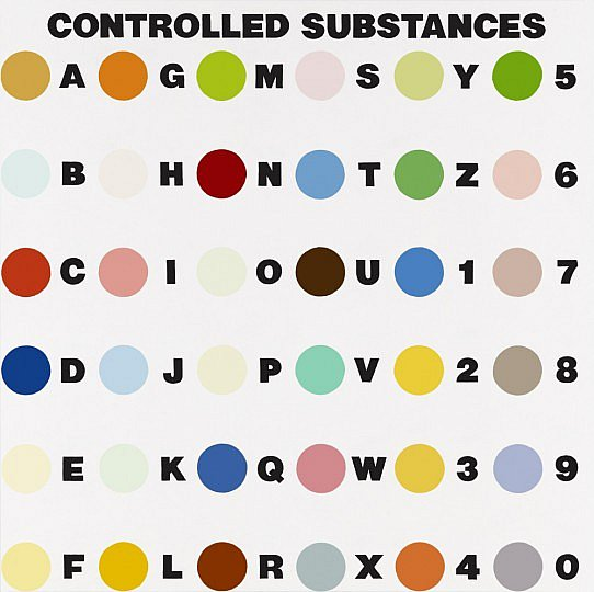 """""""Controlled Substances,"""" by Damien Hirst"""