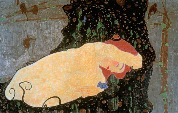 """""""Dana,"""" by Egon Schiele, 1909"""