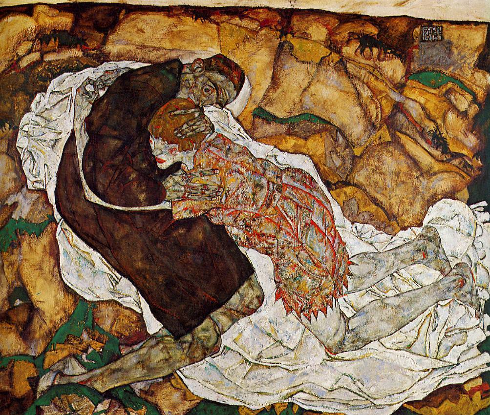 """Death And The Maiden,"" by Egon Schiele"
