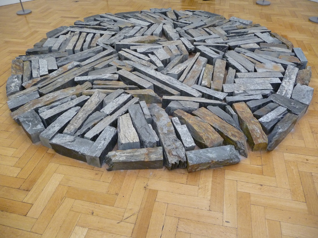 Delabole Slate Circle #1 at the Bristol Museum