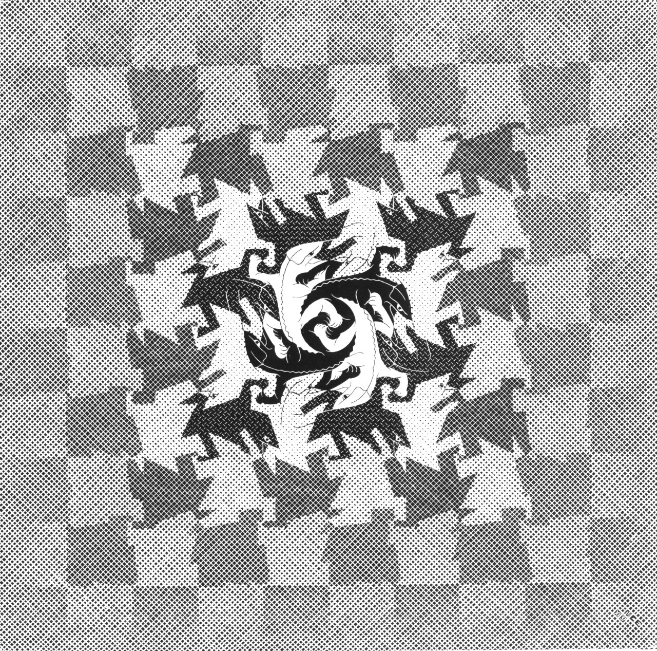 """Development 1,"" by M.C. Escher"