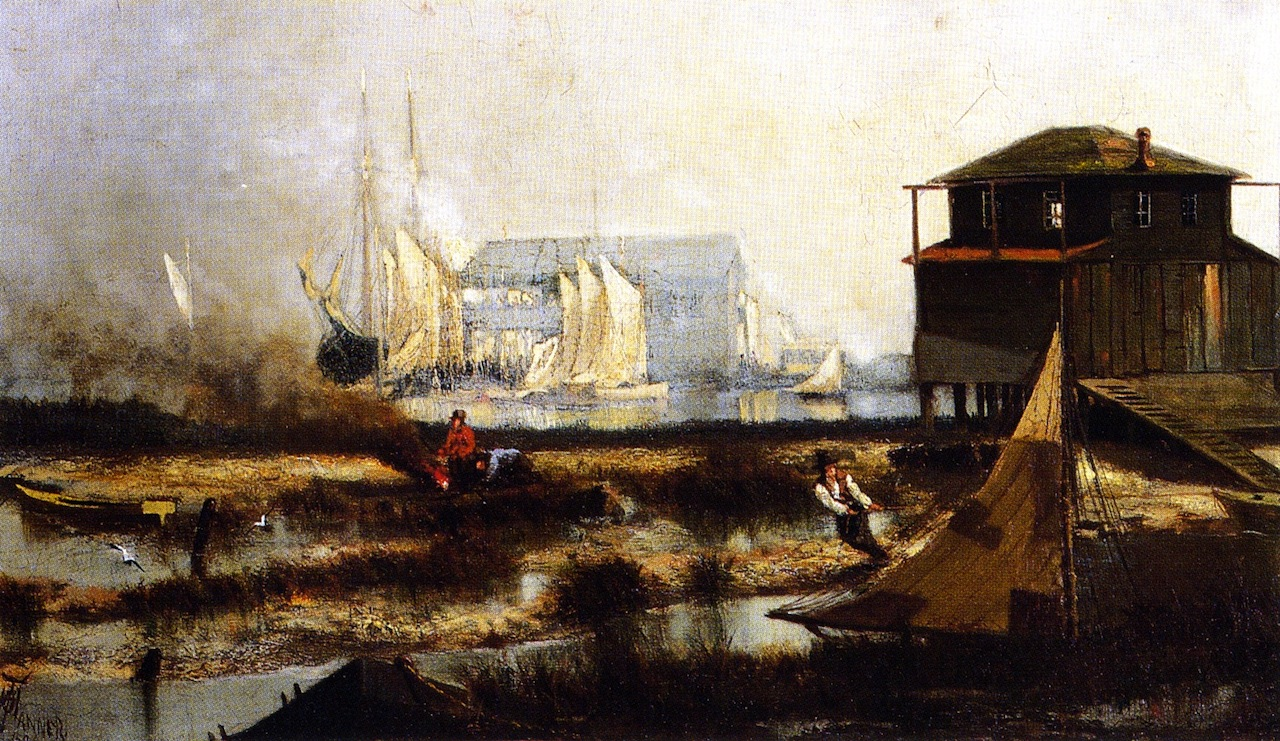 """Harbor Scene,"" 1876, by Tanner when he was 17 years old"