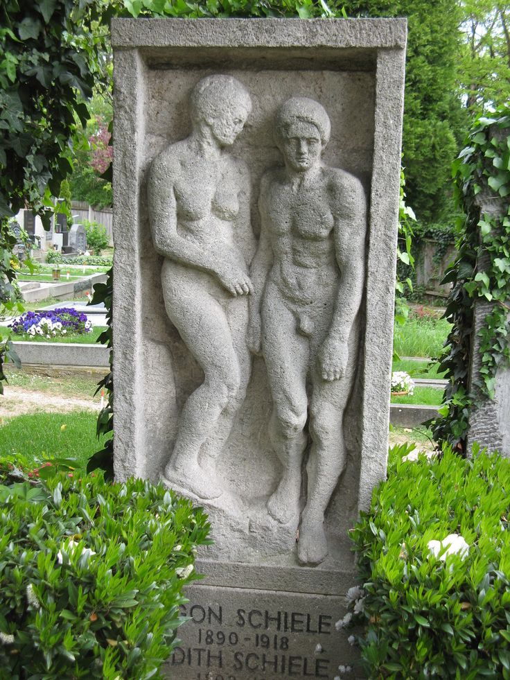The grave of Egon Schiele and his wife