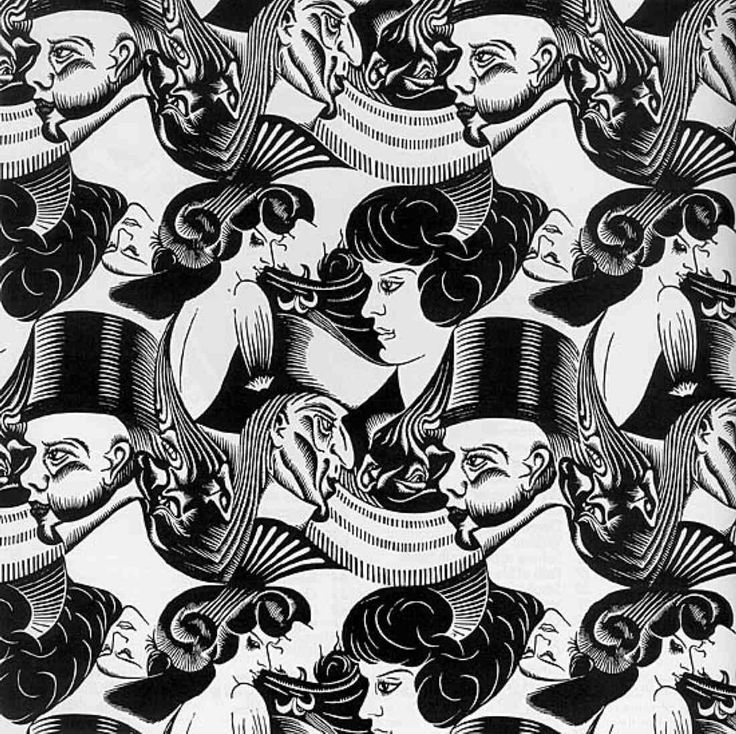 """Eight Heads,"" by M.C. Escher"