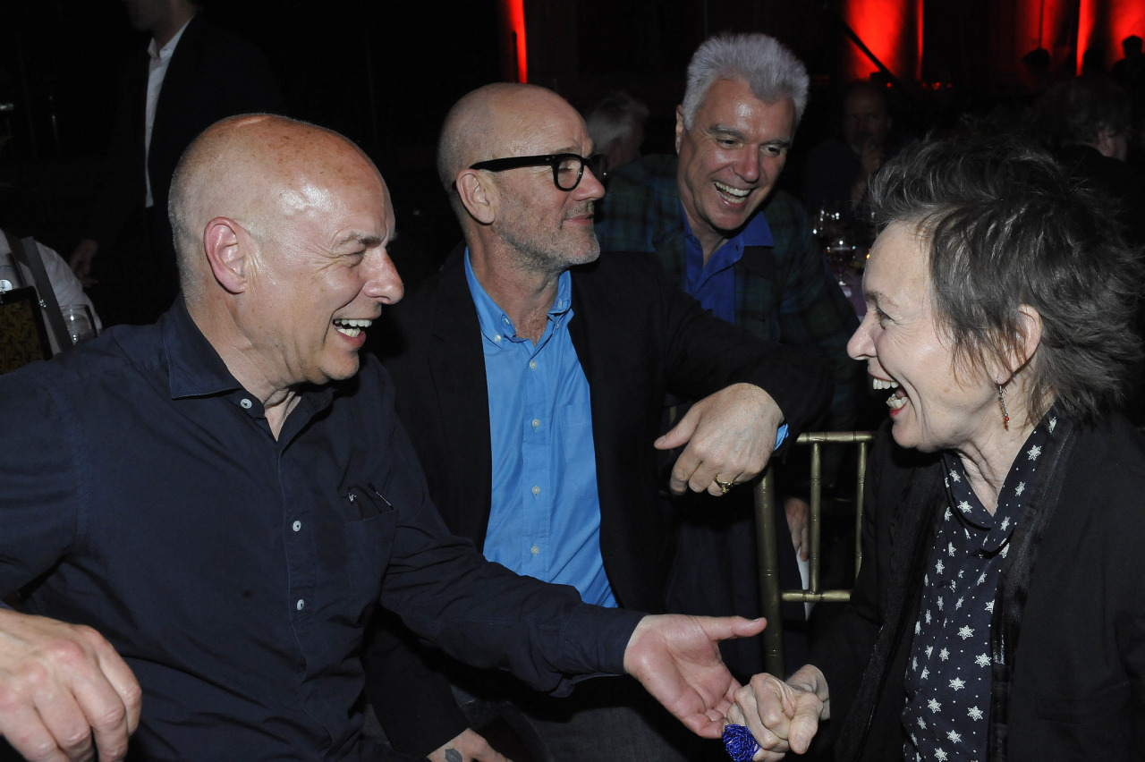 Brian Eno, Michael Stipe, David Byrne and Laurie Anderson