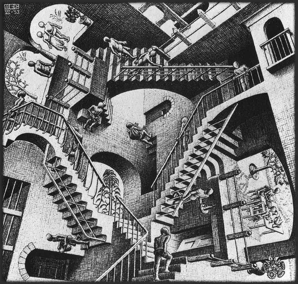 """Relativity,"" by M.C. Escher, 1953"