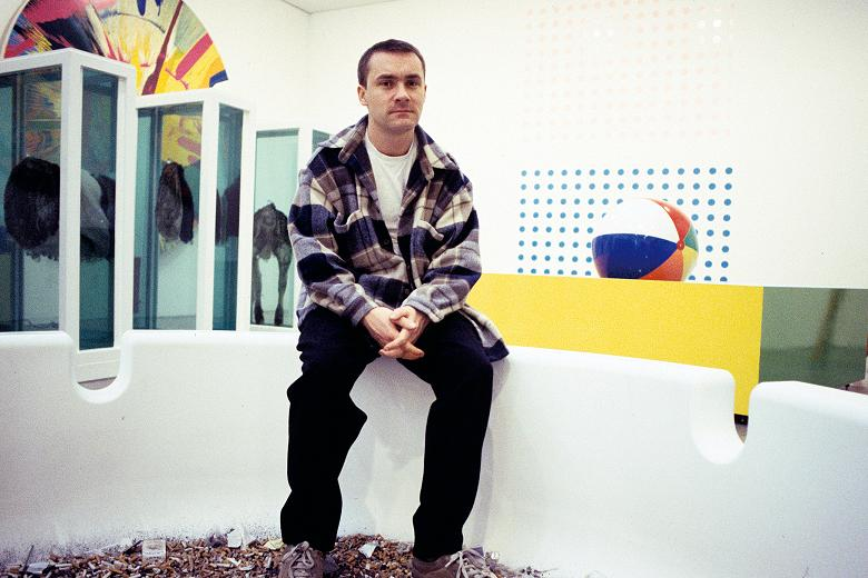 Damien Hirst at the Gagosian Gallery in New York, 1996
