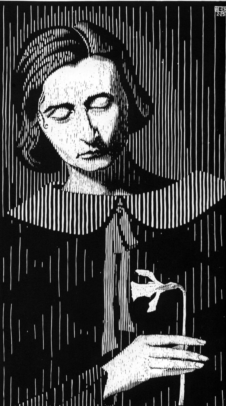 Portrait of the artist's wife Jetta, by M.C. Escher