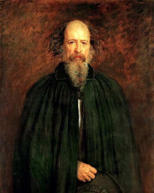 Portrait of the poet Alfred Lord Tennyson, by John Everett Millais,