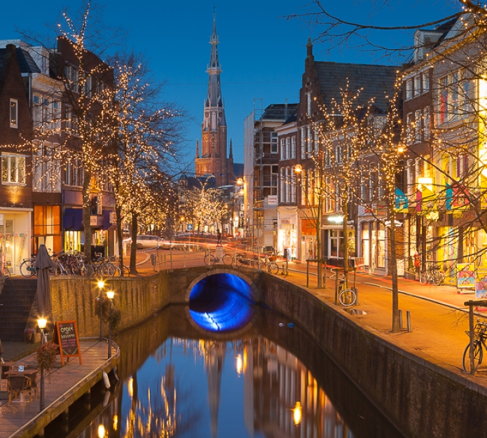 The city of Neeuwarden, in the Netherlands, and birthplace of the artist M.C. Escher