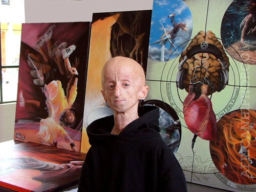 Artist and DJ, Leon Botha in his studio
