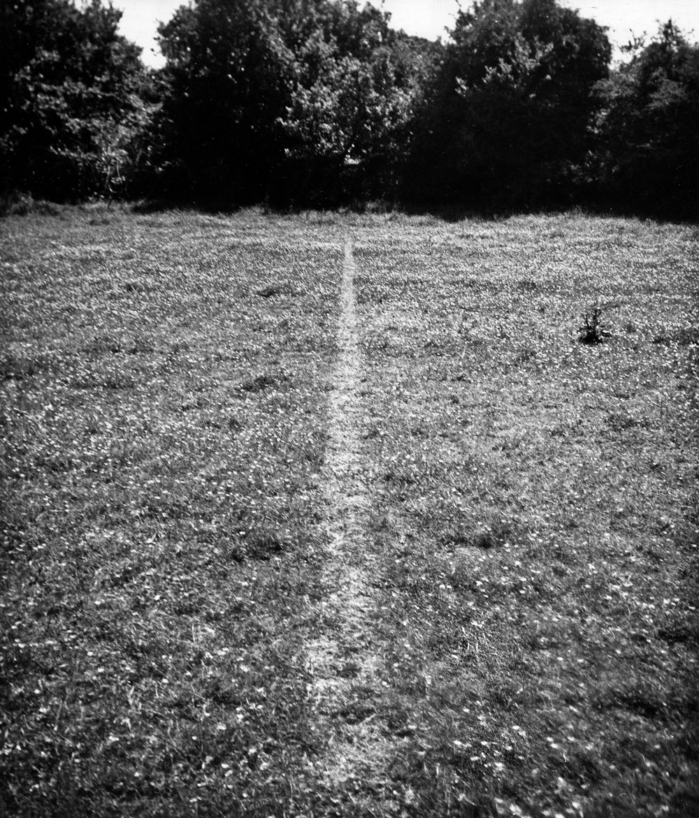 """A Line Made By Walking,"" by Richard Long, 1967"